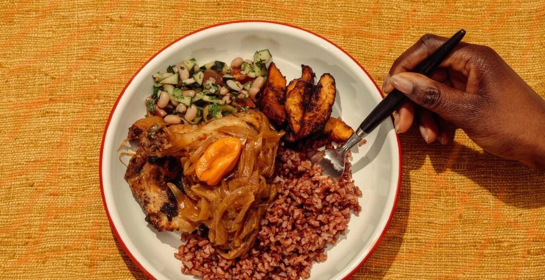 Afrikanisches Essen auf Teller